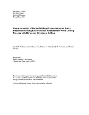 Primary view of object titled 'Characterization of Under-Building Contamination at Rocky Flats Implementing Environmental-Measurement While Drilling Process with Horizontal Directional Drilling'.