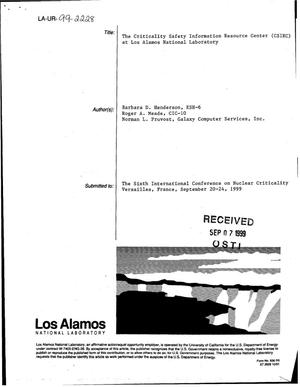 Primary view of object titled 'The Criticality Safety Information Resource Center (CSIRC) at Los Alamos National Laboratory'.