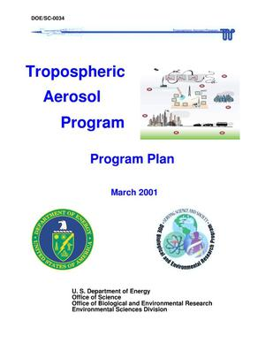 Primary view of object titled 'TROPOSPHERIC AEROSOL PROGRAM, PROGRAM PLAN, MARCH 2001'.