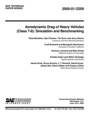 Primary view of object titled 'Aerodynamic Drag of Heavy Vehicles (Class 7-8): Simulation and Benchmarking'.
