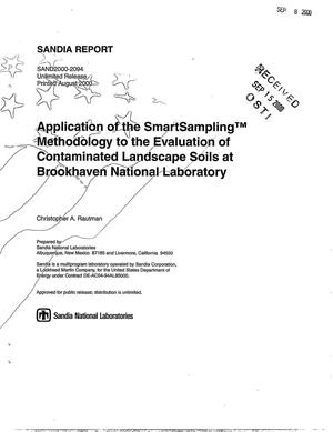 Primary view of object titled 'Application of the SmartSampling Methodology to the Evaluation of Contaminated Landscape Soils at Brookhaven National Laboratory'.