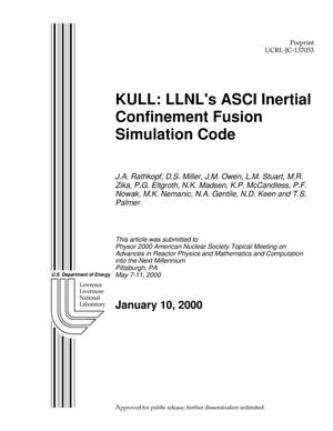 Primary view of object titled 'KULL: LLNL's ASCI Inertial Confinement Fusion Simulation Code'.