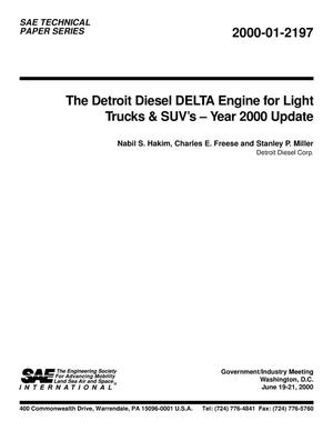 Primary view of object titled 'The Detroit Diesel DELTA Engine for Light Trucks and SUVs - Year 2000 Update'.