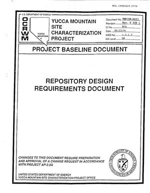 Primary view of object titled 'REPOSITORY DESIGN REQUIREMENTS DOCUMENT'.