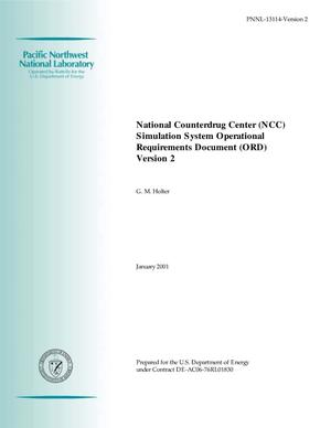 Primary view of object titled 'National Counterdrug Center (NCC) Simulation System Operational Requirements Document (ORD) Version 2'.