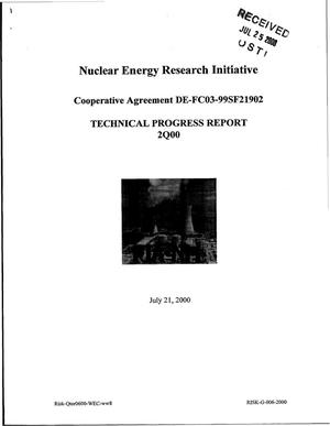 Primary view of object titled 'Nuclear Energy Research Initiative (NERI) Technical Progress Report 2Q00'.