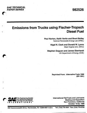 Primary view of object titled 'Emissions from Trucks using Fischer-Tropsch Diesel Fuel'.