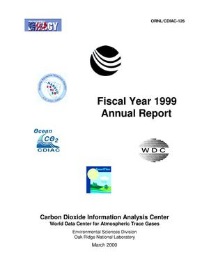 Primary view of object titled 'Carbon Dioxide Information Analysis Center, Fiscal Year 1999 Annual Report'.