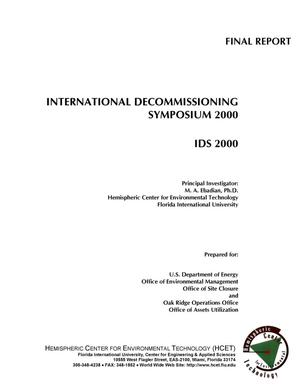 Primary view of object titled 'INTERNATIONAL DECOMMISSIONING SYMPOSIUM 2000'.
