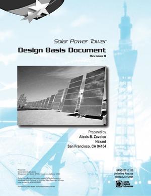 Solar Power Tower Design Basis Document, Revision 0