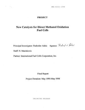 Primary view of object titled 'New Catalysts for Direct Methanol Oxidation Fuel Cells'.