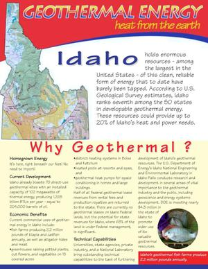 Primary view of object titled 'Geothermal Energy--Heat from the Earth: Idaho'.