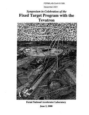 Primary view of object titled 'In celebration of the fixed target program with the Tevatron'.