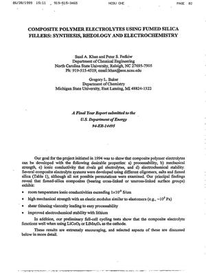 Primary view of object titled 'Composite polymer electrolytes using fumed silica fillers: synthesis, rheology and electrochemistry'.
