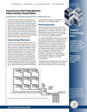 Primary view of object titled 'Federal Technology Alert: Ground-Source Heat Pumps Applied to Federal Facilities--Second Edition'.