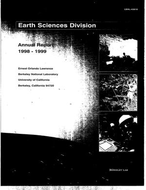 Primary view of object titled 'Earth Sciences Division Annual Report 1998'.