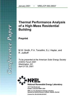 Primary view of object titled 'Thermal Performance Analysis of a High-Mass Residential Building'.