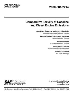 Primary view of object titled 'Comparative Toxicity of Gasoline and Diesel Engine Emissions'.