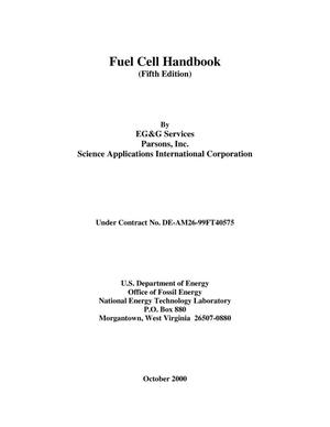 Primary view of object titled 'Fuel Cell Handbook, Fifth Edition'.