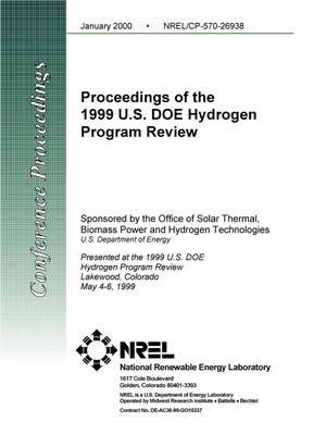 Primary view of object titled 'Proceedings of the 1999 U.S. DOE Hydrogen Program Review'.