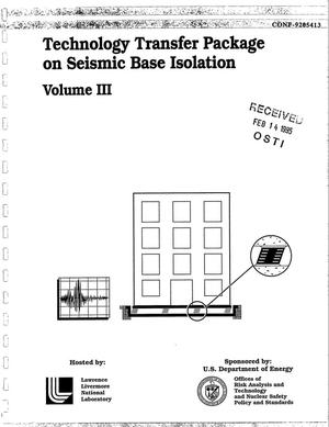Primary view of object titled 'Technology transfer package on seismic base isolation - Volume III'.