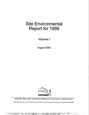 Primary view of object titled 'Site Environmental Report for 1999 - Volume 1'.