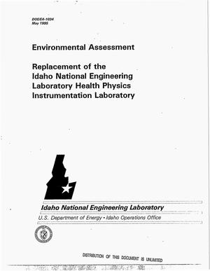 Primary view of object titled 'Replacement of the Idaho National Engineering Laboratory Health Physics Instrumentation Laboratory'.