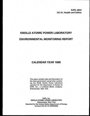 Primary view of object titled 'Knolls Atomic Power Laboratory environmental monitoring report, calendar year 1999'.