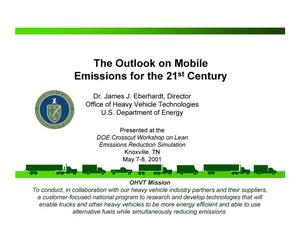 Primary view of object titled 'The Outlook on Mobile Emissions for the 21st Century'.