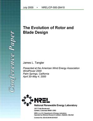 Primary view of object titled 'The Evolution of Rotor and Blade Design'.