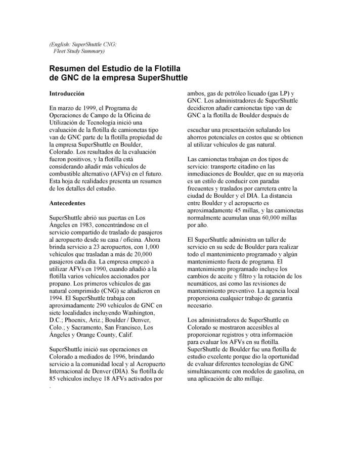modelos de resumen en ingles
