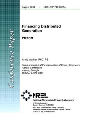 Primary view of object titled 'Financing Distributed Generation'.