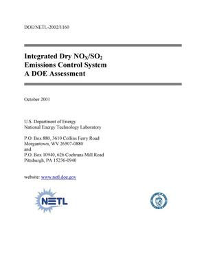 Primary view of object titled 'Integrated Dry NOx/SO2 Emissions Control System, A DOE Assessment'.
