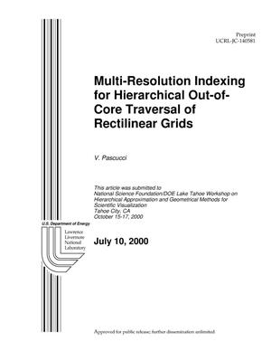 Primary view of object titled 'Multi-Resolution Indexing for Hierarchical Out-of-Core Traversal of Rectilinear Grids'.