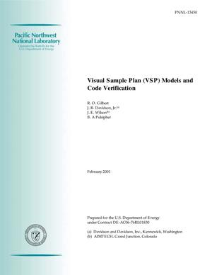 Primary view of object titled 'Visual Sample Plan (VSP) Models and Code Verification'.