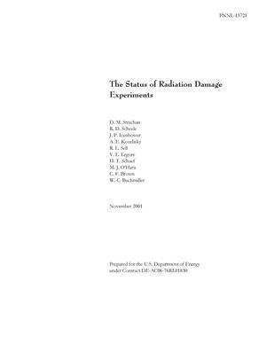 Primary view of object titled 'The Status of Radiation Damage Experiments'.