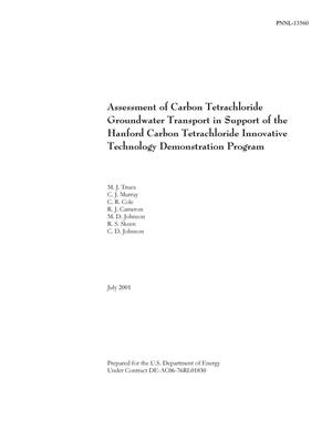 Primary view of object titled 'Assessment of Carbon Tetrachloride Groundwater Transport in Support of the Hanford Carbon Tetrachloride Innovative Technology Demonstration Program'.