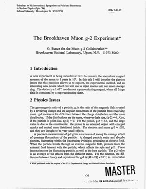 Primary view of object titled 'The Brookhaven muon g-2 experiment'.
