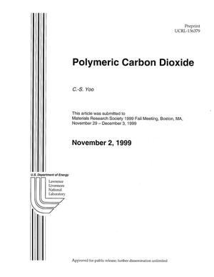 Primary view of object titled 'Polymeric Carbon Dioxide'.