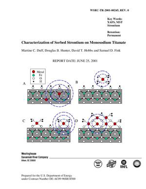 Primary view of Characterization of Sorbed Strontium on Monosodium Titanate