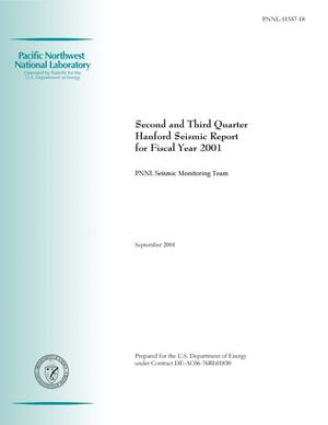 Primary view of object titled 'Second and Third Quarter Hanford Seismic Report for Fiscal Year 2001'.