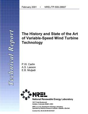 Primary view of object titled 'The History and State of the Art of Variable-Speed Wind Turbine Technology'.