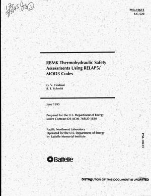 Primary view of object titled 'RBMK thermohydraulic safety assessments using RELAP5/MOD3 codes'.