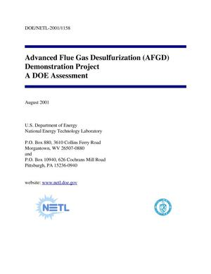Primary view of object titled 'Advanced Flue Gas Desulfurization (AFGD) Demonstration Project, A DOE Assessment'.