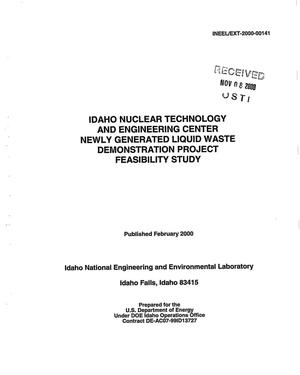 Primary view of object titled 'Idaho Nuclear Technology and Engineering Center Newly Generated Liquid Waste Demonstration Project Feasibility Study'.