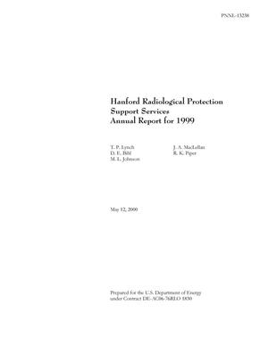 Primary view of object titled 'Hanford Radiological Protection Support Services Annual Report for 1999'.