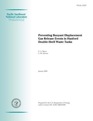 Primary view of object titled 'Preventing Buoyant Displacement Gas Release Events in Hanford Double-Shell Waste Tanks'.