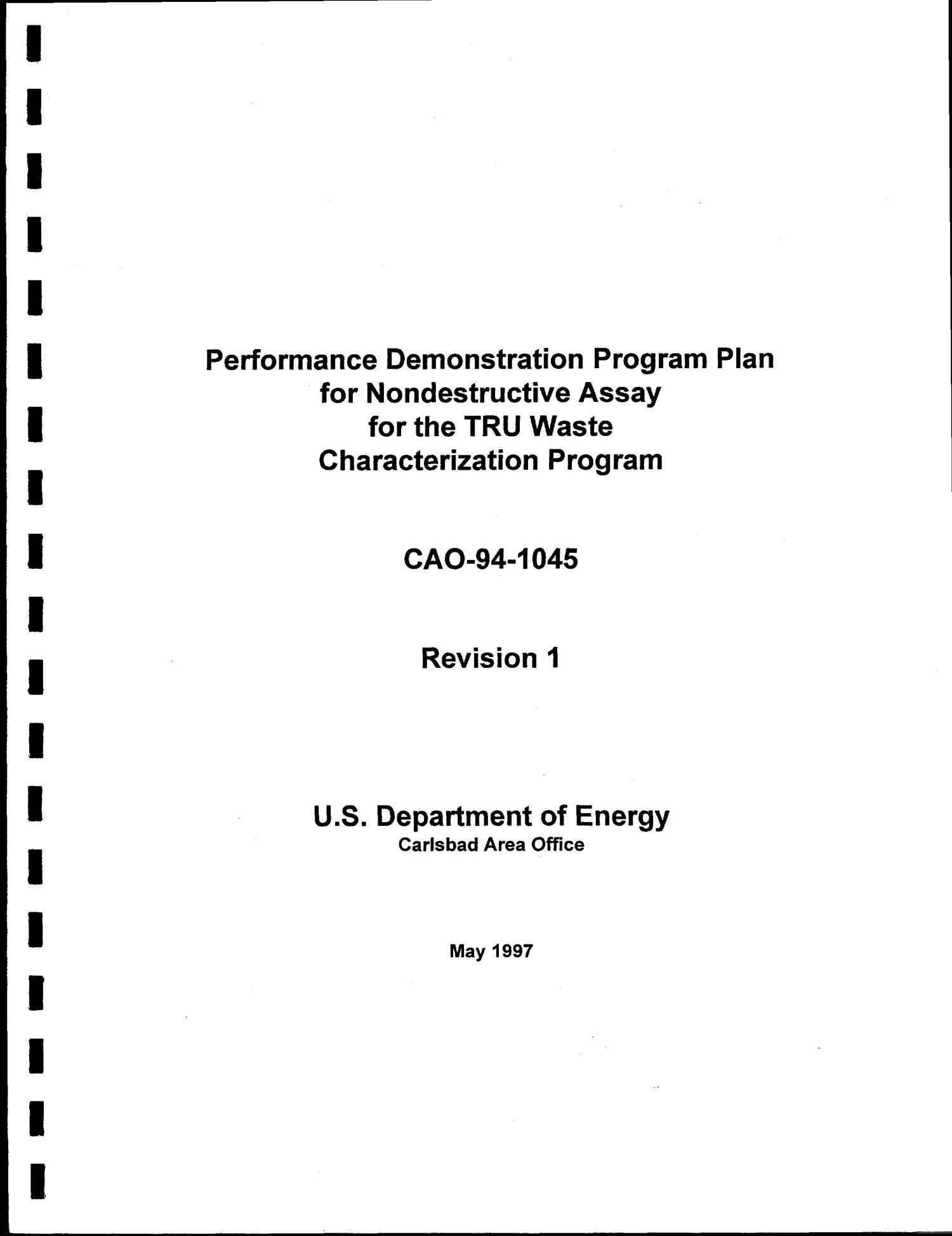 Performance Demonstration Program Plan for Nondestructive Assay for the TRU Waste Characterization Program. Revision 1                                                                                                      [Sequence #]: 1 of 59