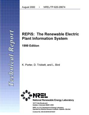 Primary view of object titled 'REPiS: The Renewable Electric Plant Information System - 1999 Edition'.