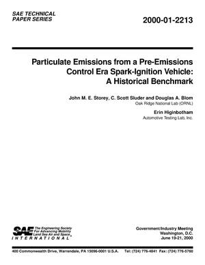 Primary view of object titled 'Particulate Emissions from a Pre-Emissions Control Era Spark-Ignition Vehicle: A Historical Benchmark'.